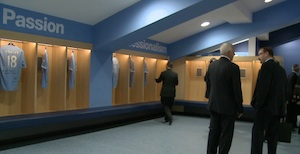 Man City's changing room