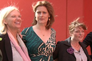 Sarah Brown, Anneka Rice and Janet Ellis at Love Maggie's Day