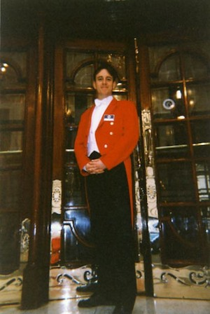 Guarding the London Palladium, c1995