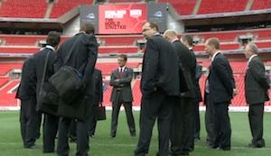 Fabio Capello and FIFA delegation at Wembley