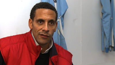 Rio Ferdinand speaking to FATV at Eltham Town FC, Nov 2010