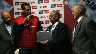 Rio Ferdinand at Eltham Town FC