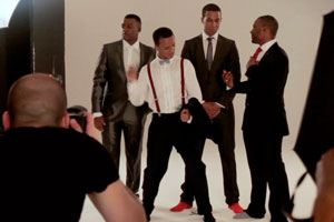 JLS behind the scenes for Their Mag